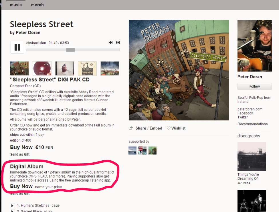 The Story of Sleepless Street – Peter Doran