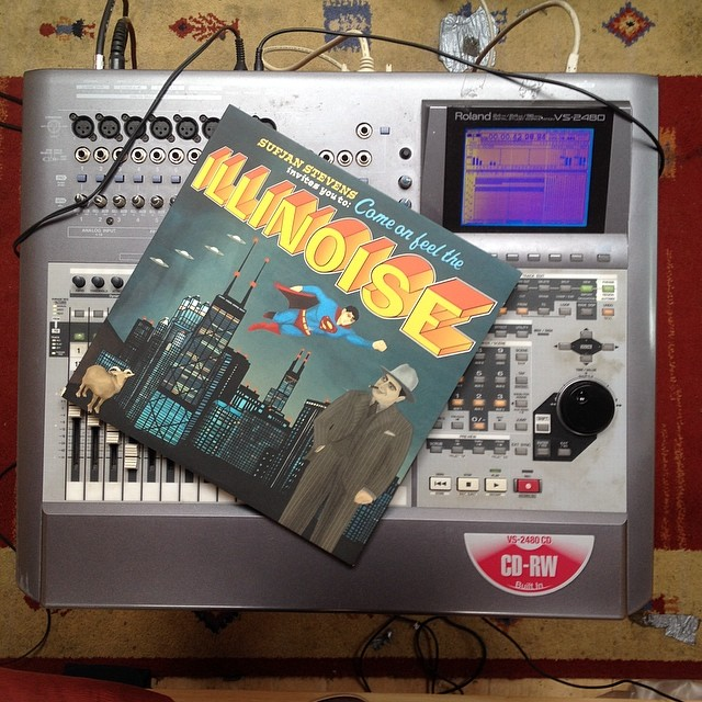 Found out recently that one of my favourite records was recorded on the same studio I'm using for new album. Sweet. #rolandvs2480 #sufjanstevens #recording #songwriter #indieartist