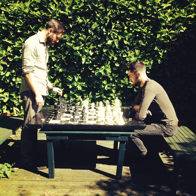 Musicians at play. #chess #outdoors